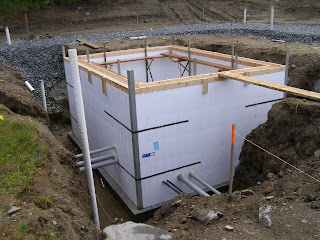 Vermont Straw Bale Adventures: Concrete and ICF Walls
