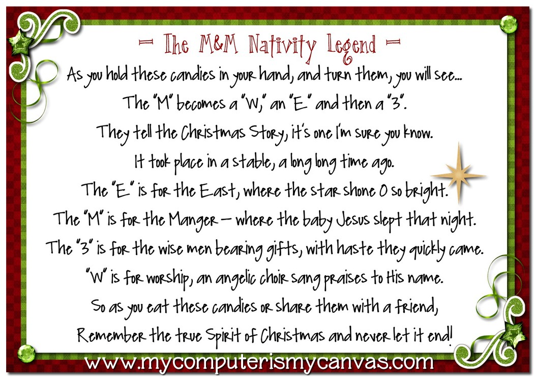 Mm Nativity Legend Recipe And Printable My Computer
