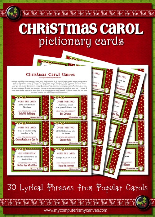 My Computer is My Canvas: New Release - Christmas Carol Games!