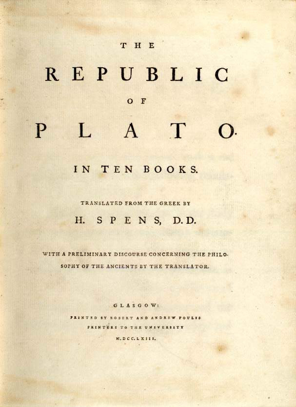 Plato's Republic Chapter Summaries