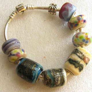 Using A Bead Press From Moores Tools I Have Added Silver Lining To My Pandora Lampwork Beads They Are Great Fun Make Besides The Usual Designs