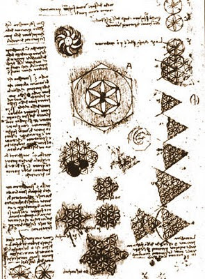 Star of David: Six petals symbol framed by a Hexagram Da Vinci Symbols