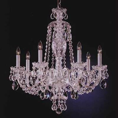Black plastic chandelier