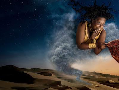 whoopi goldberg as Aladdin Genie