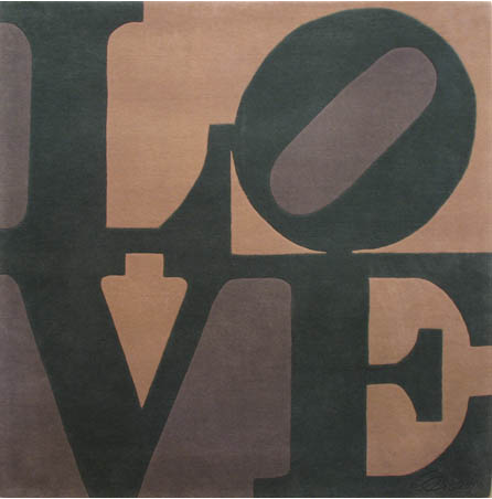 LOVE rug by Robert Indiana