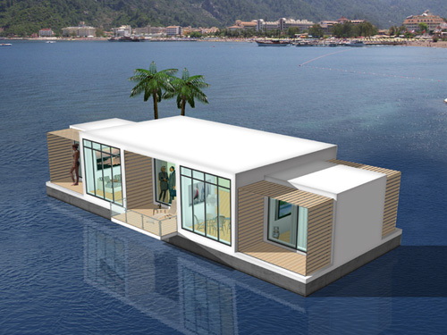 If It's Hip, It's Here (Archives): Floating Houses: The Wave of The Future?