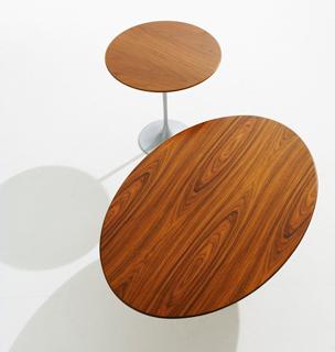 saarinen tables with wood tops