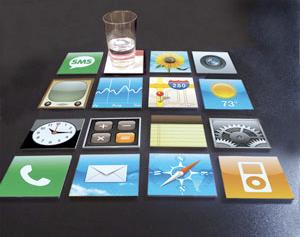 icon drink coasters