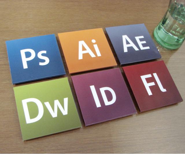 Adobe Creative Suite coasters
