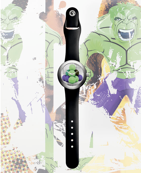 Jeff Koons Platinum Horizon Cannonballs watch for Ikepod