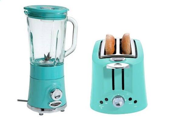 Aqua Colored Kitchen Canisters