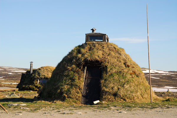 authentic turf covered hut in Hardangervidda, Norway
