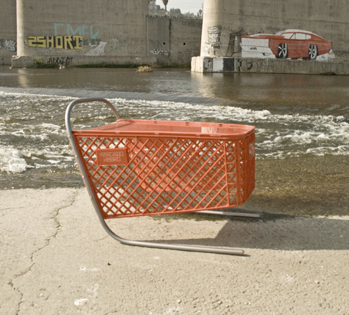 Repurposed shopping carts at if it's hip, it's here