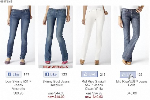 If It's Hip, It's Here (Archives): Levi's Integrates Facebook's ...