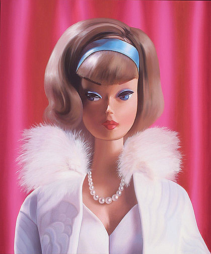 hyper realistic paintings of retro barbies by judy ragagli if it s