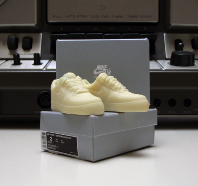 mini white chocolate Nike Air Force 1s