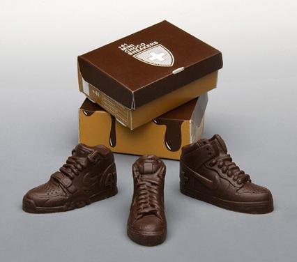 mini chocolate Nikes