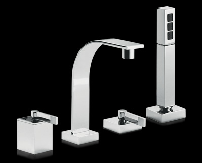 Form faucet and hardware