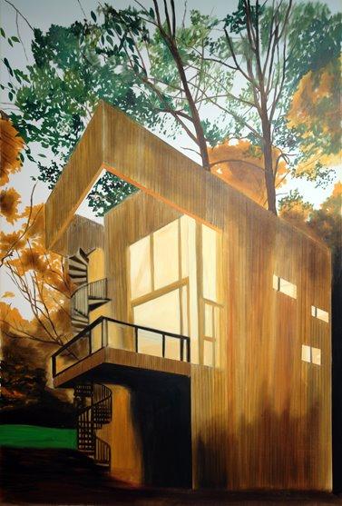 Eamon O'Kane, Studio 1 evening southwest view, oil on canvas, 5ft x 7ft, 2008