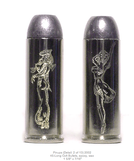 Pin Up Girls Engraved bullets by Jason Clay Lewis