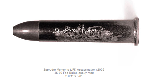 Jason Clay Lewis, Zapruder Memento: The asassination of John F. Kennedy, engraved bullet