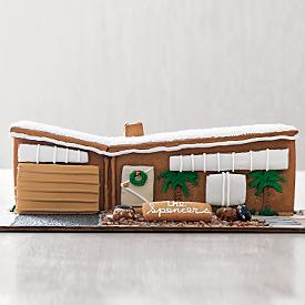 mid century modern gingerbread house