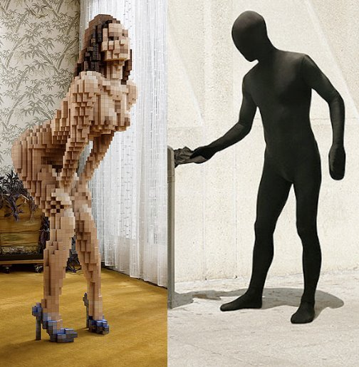 jean yves lemoigne pixelated people and pictograms