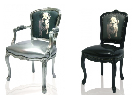 Digitally Printed Home Furnishings -bulldog puppy chairs