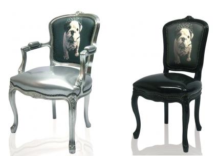 Digitally Printed Home Furnishings -bulldog puppy chairs