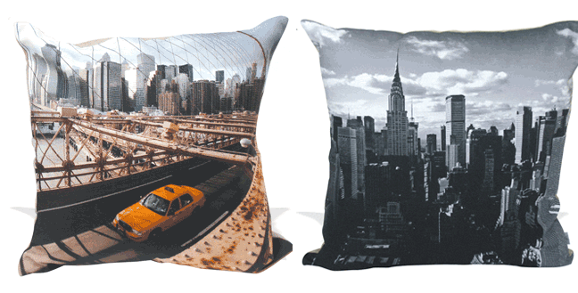 Digitally Printed Home Furnishings -  throw pillows