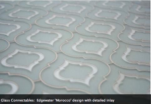 White Arabesque Tile Kitchen Floors