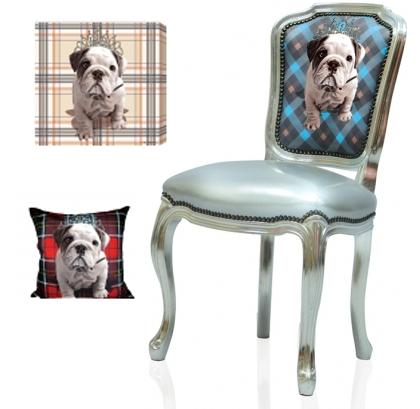 Digitally Printed Home Furnishings - bulldog puppy