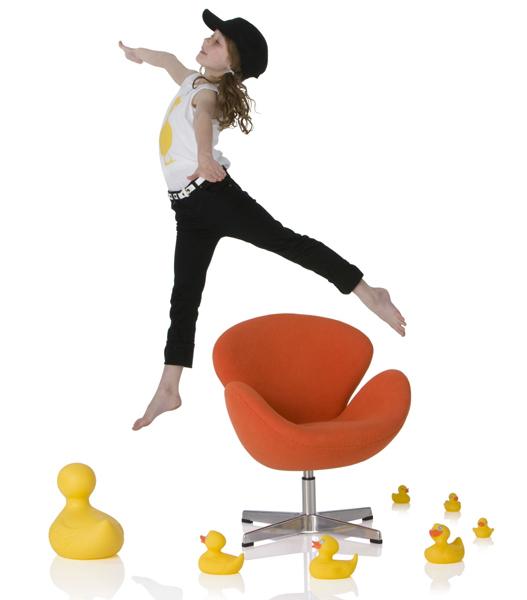 Children's swan chair