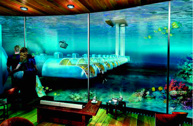 Undersea Hotel Room Maldives