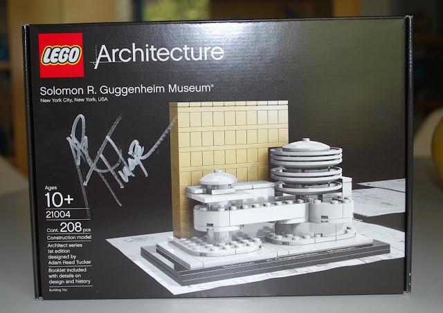 Lego guggenheim signed by Adam Reed Tucker