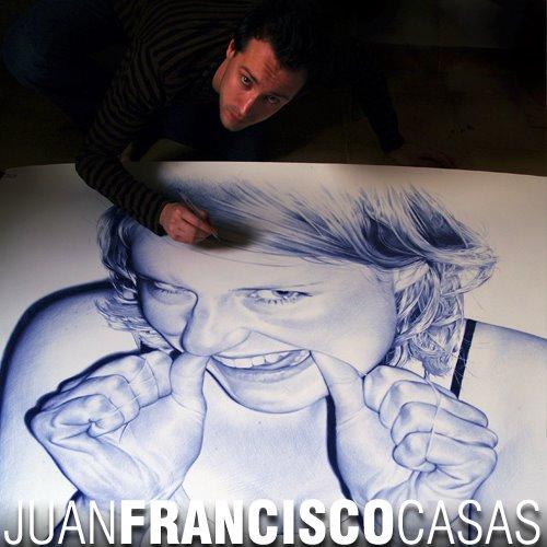 Juan Francisco Casas Ballpoint Pen Drawings