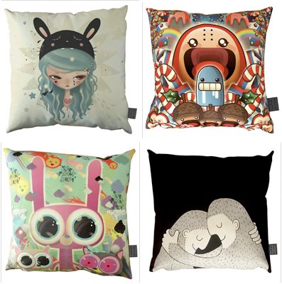 Limited Edition Throw Pillows by Contemporary Artists