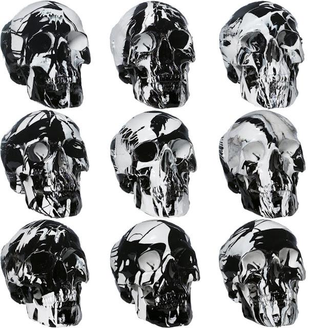 black and white painted skulls