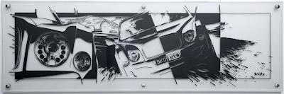 Vitalis Enns, Bentley Mulsanne Tape Drawing