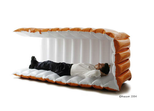 nappak of germany redefines the power nap with a modern portable inflatable shelter blowup furniture