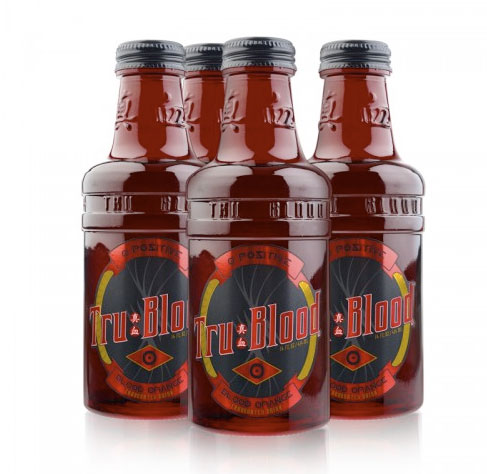 Tru Blood carbonated drink from HBO and True Blood