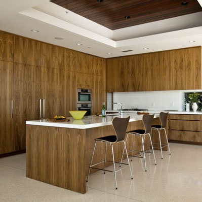 Kitchen Cabinet Walnut Briwn