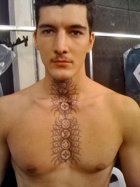 Louis Vuitton tattoos scott campbell runway show