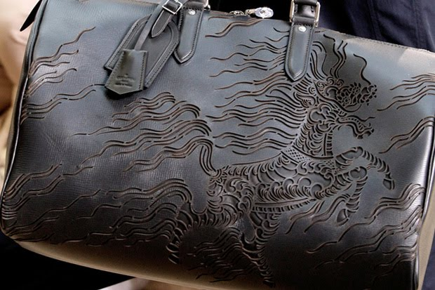 louis vuitton leather bag by Scott Campbell