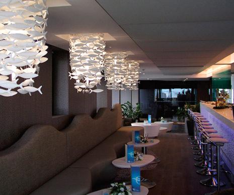 Shoal lights in restaurant
