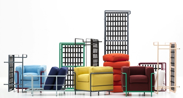 Le Corbusier Classics LC2 LC3 and LC4 Get Colorful