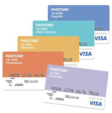 pantone credit card