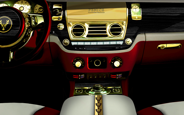 24k gold plated dash