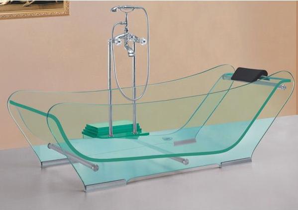 the bathroom store glass tub