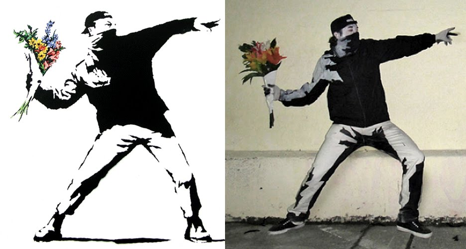 If Its Hip Here Archives The Best Halloween Costume Ever Banksys Flower Thrower